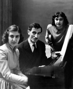 The violinist Anahid Ajemian, right; the pianist Maro Ajemian, her sister, left; and Alan Hovhaness, in the 1940s.