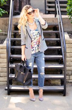 Boyfriend Jean's & Stripes for Days | For Work & For Play