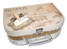 maleta mediana papel mache | Dipintodiblu | Tienda online de manualidades y bellas artes
