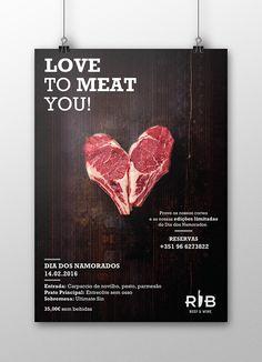 Food Graphic Design, Food Poster Design, Event Poster Design, Creative Poster Design, Menu Design, Rustic Design, Restaurant Advertising, Meat Restaurant, Restaurant Poster