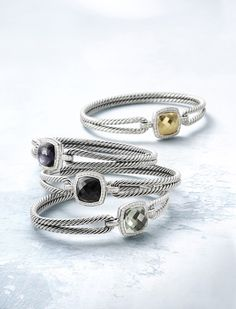 Silver Twist Stackable Rings