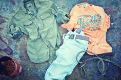 #shirt Army Green #denim Starsky 115 light used #tshirt light orange #petrolindustries