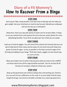 How to Recover From a Binge