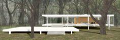 Um passeio virtual pela Casa Farnsworth de Mies van der Rohe