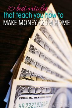 I've been making money from home for over 17 years now and can definitely tell you all about it. In this post, you will find the 10 best articles that teach you how to make money from home, so that you can do it too!