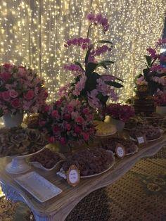 Mesa de doces casamento em Tiradentes - MG