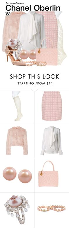 """""""Scream Queens"""" by wearwhatyouwatch ❤ liked on Polyvore featuring Lane Bryant, Alexander Lewis, RED Valentino, Givenchy, Honora, Chanel, Theodoros, Halogen, television and wearwhatyouwatch"""