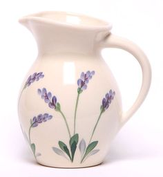 Iced Tea Ceramic Pitcher - Lavender