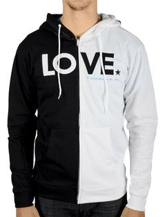 To Write Love on Her Arms Official Online Store - Contrast LOVE Zip Hoodie