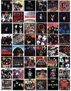 KISS ALBUM COVERS I have bought multiples of many of them due to format changes and just wearing the out!