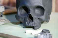 chalkboard skull in jet black by iamhome on Etsy, $46.00 oddly intrigued!!