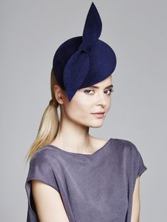 Velour Beret & Bow | Juliette Botterill Millinery AW 2014