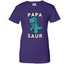 Men's Papa Saur Dinosaur T Shirt - Fun Dad Daddy Fathers Gift Tee