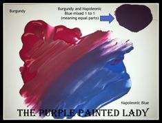 Burgundy mixed with Napoleonic Blue Chalk Paint.   Custom blend recipe fro The Purple Painted Lady   http://shop.thepurplepaintedlady.com/Burgundy-Chalk-Paint-Quart_p_181.html