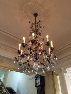 Glorious!! This chandelier is in the hallway at the main entrance - Governor's Mansion, Denver, Co.