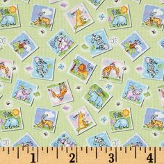Gingham Safari Tossed Animal Patches Mint $8.98