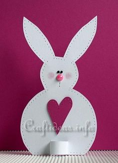 Free Easter Craft for Kids - Paper Easter Bunny Table Decoration