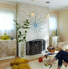 Lowes- painted brick fireplace tutorial