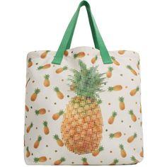 MANGO Printed Motifs Bag (700 THB) ❤ liked on Polyvore featuring bags, handbags, mango purse, white purse, white handbags, mango handbags and white bags