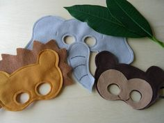 Safari Felt Masks | how fun to make these for dress up fun by dale
