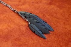 Vegan Feather Bicycle Tube Necklace