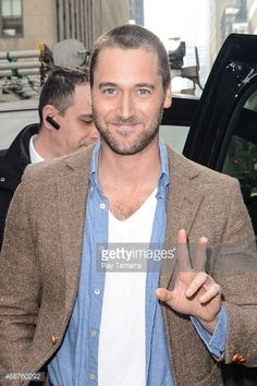 Actor Ryan Eggold leaves the 'Today Show' taping at the NBC Rockefeller Center Studios on April 6, 2015 in New York City.