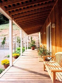 Aluminum Porch Roof  | The floor of the porch above is wood, while ours will be even simpler ...