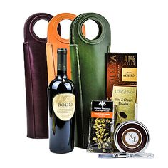 $64.00  The Tuscan Tote Basket in Eggplant, Cantaloupe and Forest Green accompanied by delicious delicacies. Fathers Day Baskets, Wine Gift Baskets, Tuscan House, Golden Oak, Small Leather Goods, Eggplant, Grape Vines, Cantaloupe, Mothers