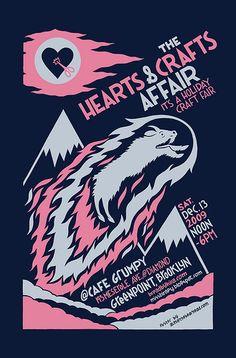 cute 2-color craft fair poster
