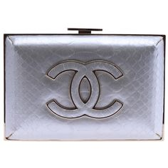 Pre-Owned Chanel A65402 Blue Python Clutch ($2,040) ❤ liked on Polyvore featuring bags, handbags, clutches, blue, snake print purse, multi colored clutches, pre owned handbags, chanel clutches and chanel handbags