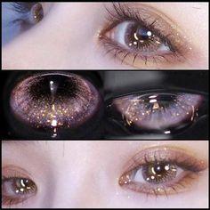 Purple Contacts, Makeup Inspo, Makeup Inspiration, Makeup Tips, Aesthetic Eyes, Aesthetic Makeup, Cute Makeup, Makeup Looks, Makeup Ideas
