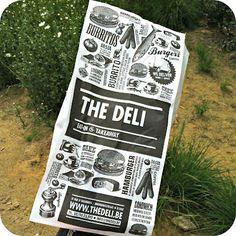 The Deli // Le jardin de Juliette - Inspirations - 2019 Trends Food Packaging Design, Print Packaging, Branding Design, Branding Ideas, Food Wrapping Paper, Menu Illustration, Deli Shop, Shopping Bag Design, Retail Signage