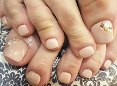 BBQ Barbecue Wedding Rehearsal Dinner. Nude pedicure