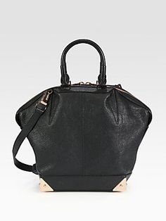 Alexander Wang Emile Tapered Tote- masculine shape with the gold hardware makes it so lux.
