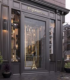 Haytham Alaa on Behance Boutique Interior Design, Interior Design Services, Restaurant Facade, Modern Store, Classic House Design, Jewellery Showroom, Perfume Store, Luxury Store, Store Fixtures