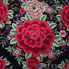 フラメンコの本場、スペインのセビージャよりシルク100%、手刺繍のマントン・デ・マニラをお届けします。日本語でお気軽にお買い物をお楽しみください。