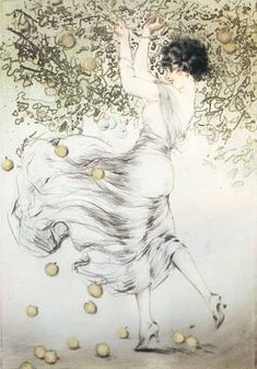 Louis Icart - Golden Apples (1922)