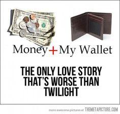 money gone bye-bye