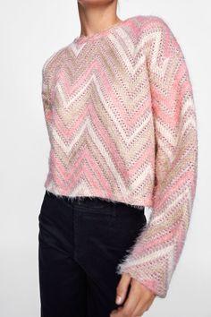 Image 3 of TEXTURED CHEVRON SWEATER from Zara Herringbone e7a46699b