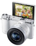 #9: Samsung NX3000 Wireless Smart 20.3MP Mirrorless Digital Camera with 20-50mm Compact Zoom and Flash (White)