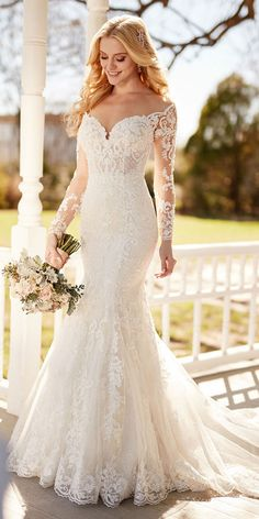 Charming Tulle Sheer Jewel Neckline Natural Waistline Mermaid Wedding Dress With Lace Appliques & Beadings wedding dresses elegant Lace Mermaid Wedding Dress, Princess Wedding Dresses, Best Wedding Dresses, Perfect Wedding Dress, Mermaid Dresses, Bridal Dresses, Lace Dresses, Ceremony Dresses, Wedding Dress Trumpet