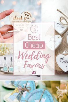 If you're looking for adorable and Creative Gifts for Guests on a budget this post is for you! My list of 15 Best Cheap Wedding Favors Ideas under 1$, that your guests will actually love. Perfect Budget friendly, and personalized favors including edible gifts, DIY, Candles, Decorative Party Favors, and Heart Rose Soap. thoughtful guests thank you gifts ideas.