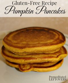 Quick and easy Gluten-Free Pumpkin Pancakes Recipe. Enjoy the flavors of fall with this gluten-free pumpkin pancake recipe. Includes dairy-free options.