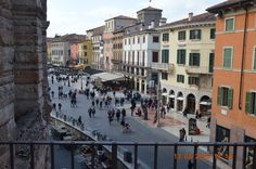 Shopping street seen from the Arena in Verona March 13 2016