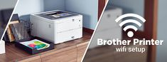Brother Printer Wifi Setup - Complete steps to Connect your Brother Printer to a wireless Network for smooth printing from anywhere. Printer Logo, Wifi Printer, Printer Driver, Internet Network, Wireless Network, Brother Printers, Wireless Router, Wall Outlets, Power Cable