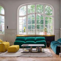 Un canapé design tout en rondeur signé Cinna