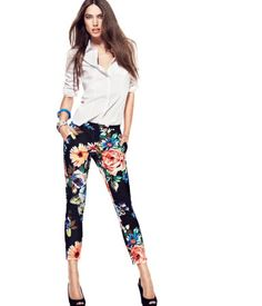 need floral pants this spring--these from h&m