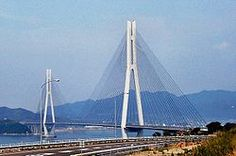 Tatara Bridge is a cable stayed bridge - Japan