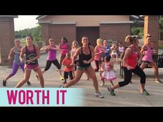 Fifth Harmony - Worth It (Dance Fitness with Jessica) - YoulTube Killer routines and easy to learn choreogrqphy! Zumba Videos, Dance Videos, Workout Videos, Zumba Songs, Zumba Routines, Workout Routines, Fith Harmony, Teach Dance, Fun Workouts