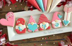 Instagram Valentine's Day Sugar Cookies, Fancy Cookies, Iced Cookies, How To Make Cookies, Valentine Desserts, Valentine Cookies, Fun Desserts, Christmas Cookies, Valentines Day